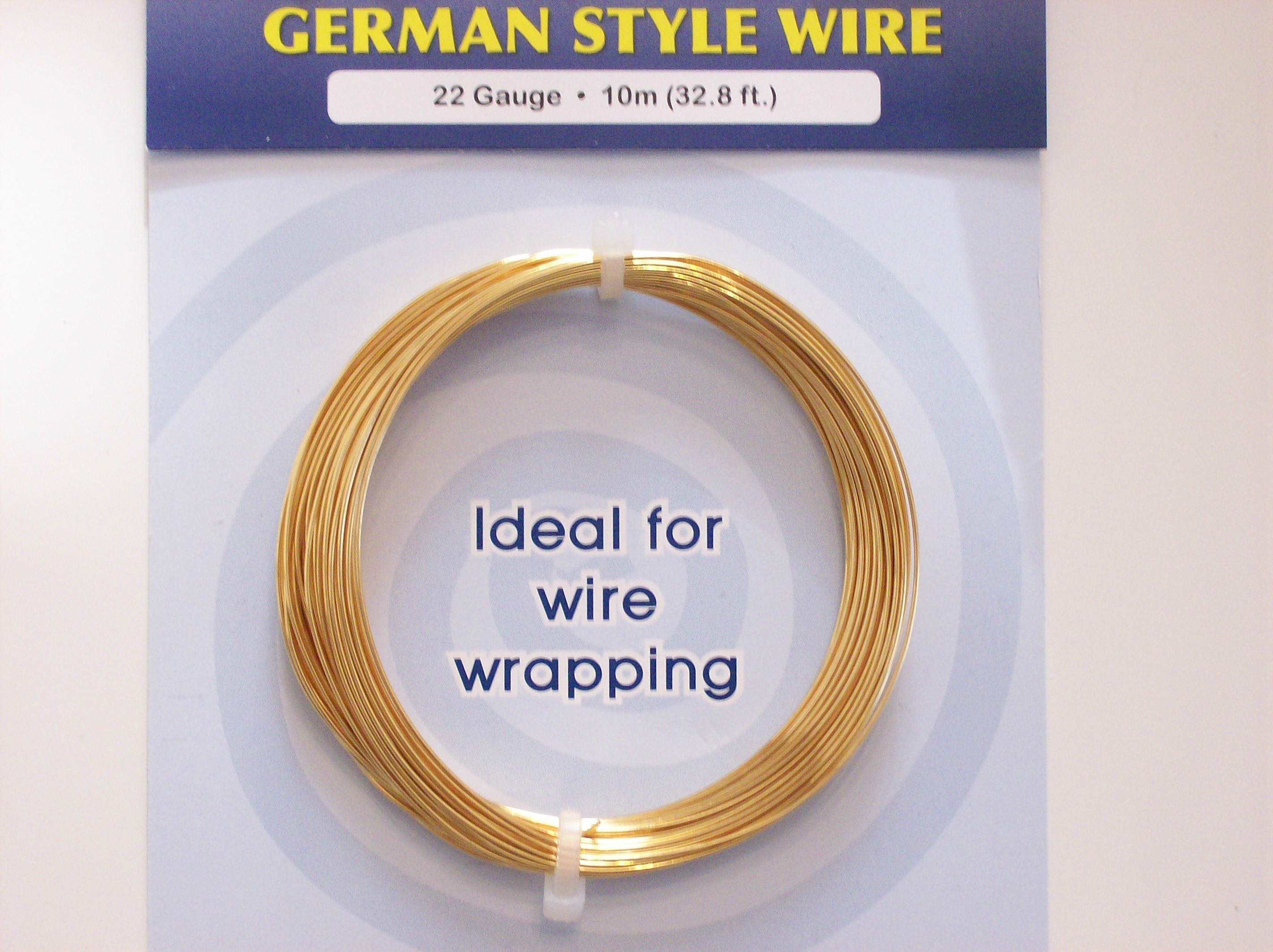 German Style Wire Gold Plated Color Coded 22 Gauge Wires 100 3106